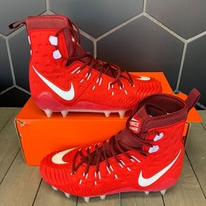Nike Force Savage Elite TD Red White Cleats 11.5